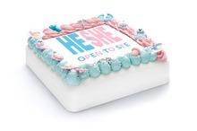 Gender reveal taart (jongen/meisje)